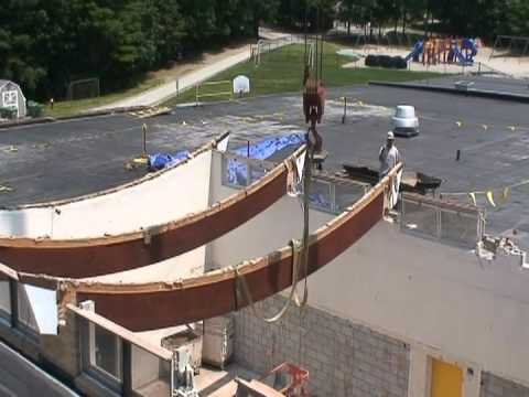 Whitinsville Christian School Library Roof Beam Removal