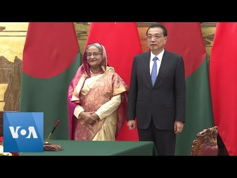 Bangladesh PM Sheikh Hasina Welcomed by China PM Li Keqiang in Beijing, China