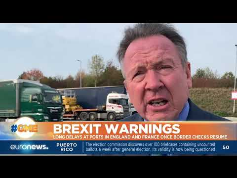 Brexit warnings: Long delays at ports in England and France once border checks resume