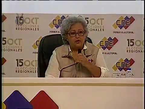 CNE ofreció primer boletín oficial tras jornada electoral de este 15-O