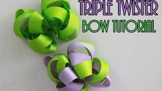 HOW TO: Triple Twister hairbow tutorial (A LOOPY BOW!)