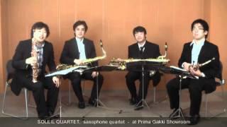 Our Guest Artist #10 Soleil Quartet, the saxophone quartet- at Prima Gakki Showroom