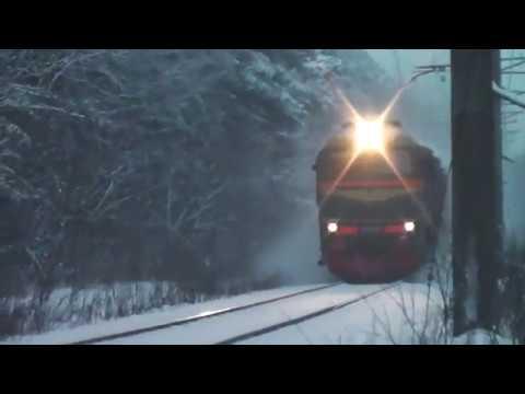 М62-1618 на перегоне Ржевка - Заневский пост 1