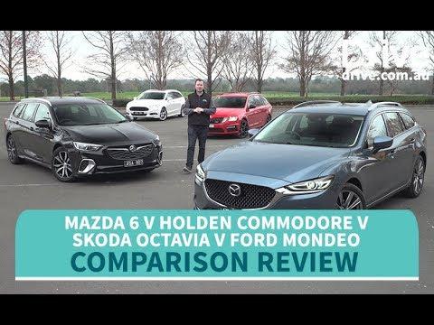 Comparison Test: 2018 Mazda 6 v Commodore v Octavia v Mondeo | Drive.com.au