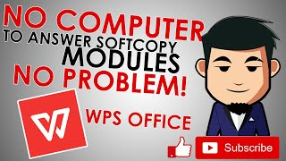 WPS Office for Answering Soft Copy Modules-Student Edition (Tagalog) screenshot 1