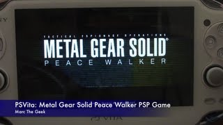 PSVita: Metal Gear Solid Peace Walker PSP Game