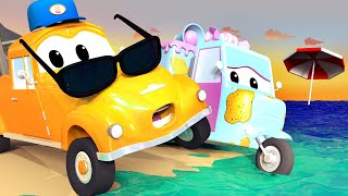 Tom the Tow Truck's Car Wash -  Carrie The Candy Car is Covered in Plastic Waste! - Trucks cartoons
