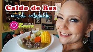 Caldo De Res ♥ Mexican Beef Soup ♥ Comida Saludable