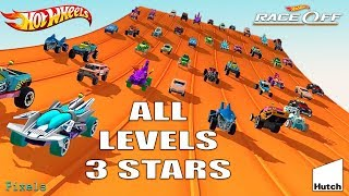 Hot Wheels Race Off - All 60 Levels 3 Stars / All Cars Unlocked