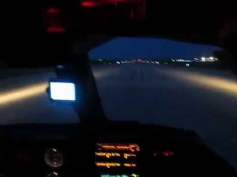 Night landing at Ogle