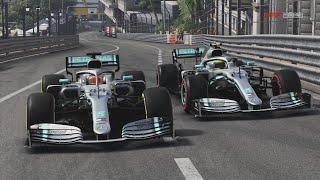 F1 2019 Gameplay: Monaco 100% Race Hamilton vs Senna