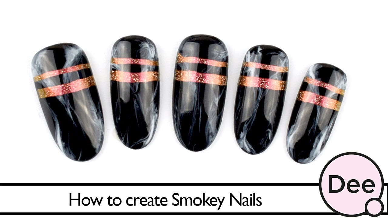 How to create Smokey Nails - YouTube