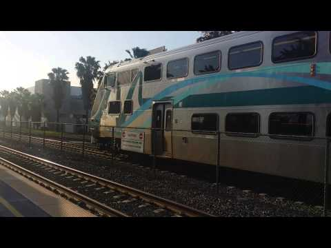 Metrolink commuter train stop in Rancho Cucamonga