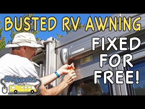 failed-rv-door-awning,-repaired-for-free!