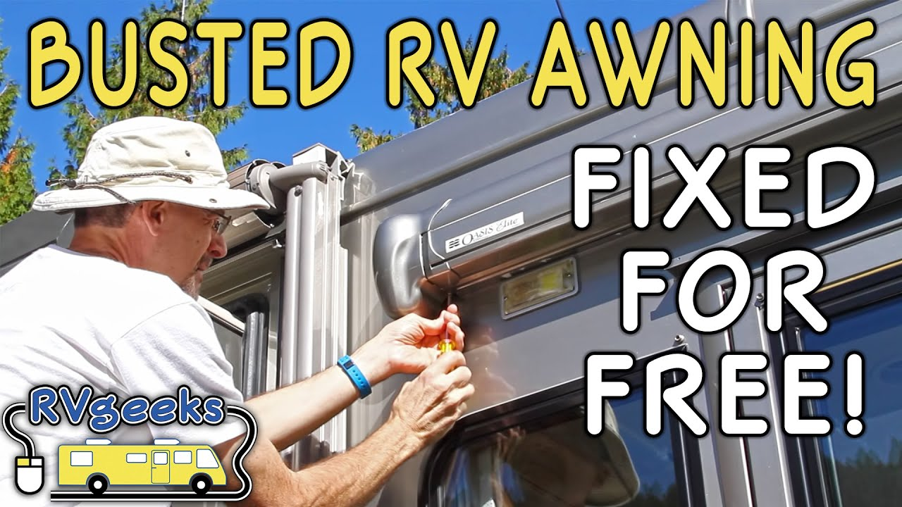 Failed RV Door Awning Repaired for FREE