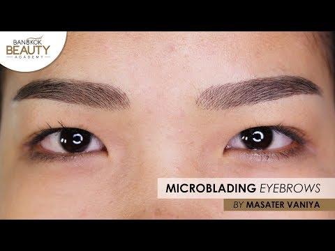 Microblading Eyebrows Asian Shape by Master Vaniya