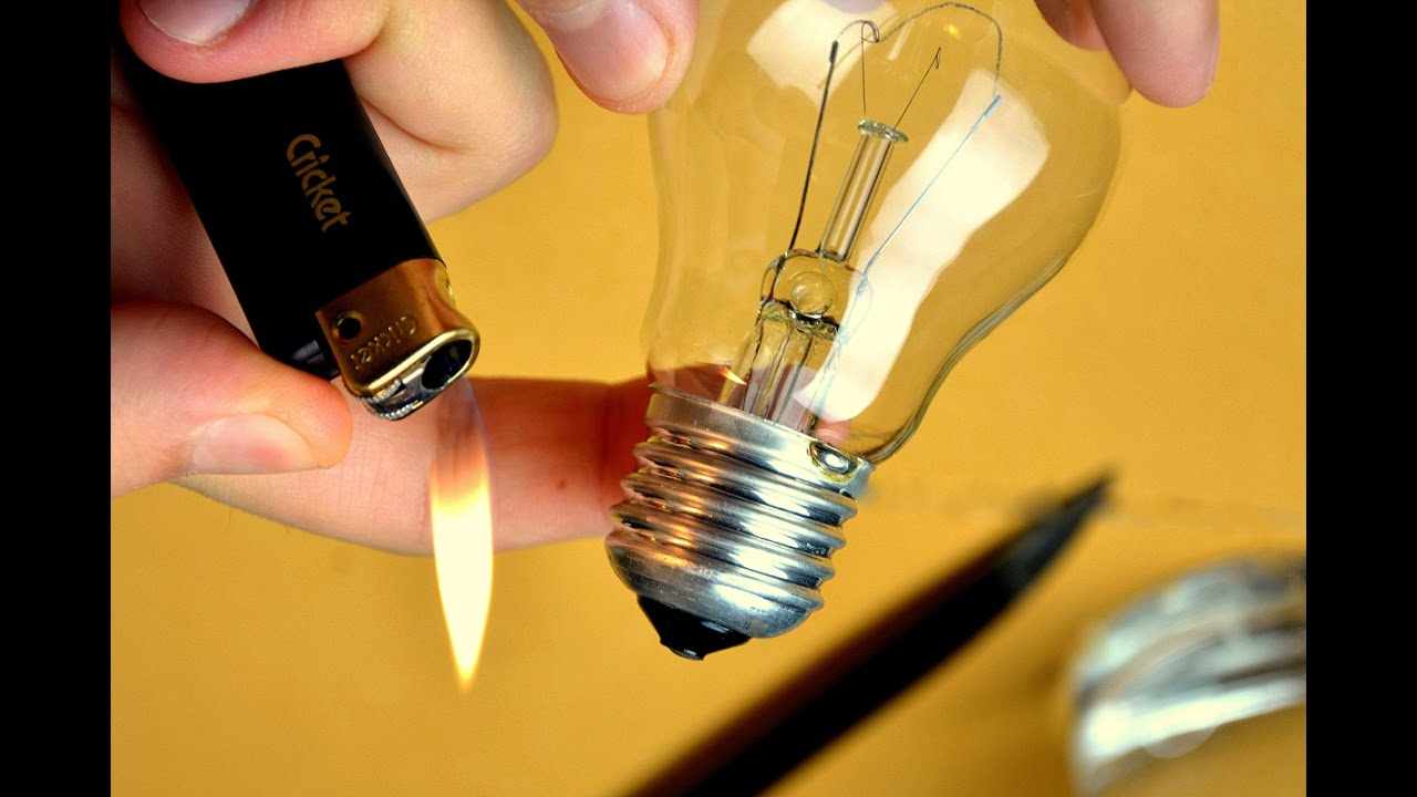 Easy How To Cut Open A Light Bulb Without Breaking It Youtube