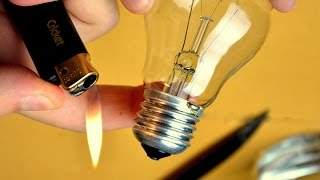 EASY How to cut/open a light bulb without breaking it