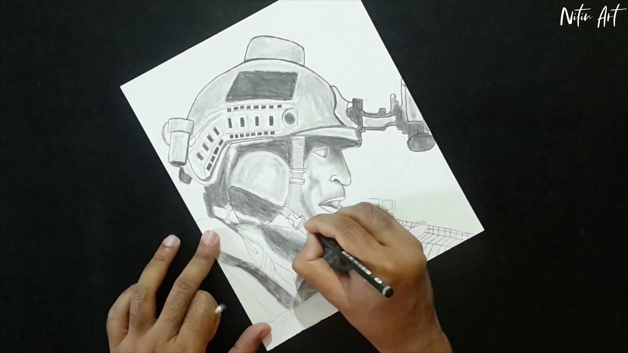Call Of Duty Modern Warfare Pencil Drawing Youtube