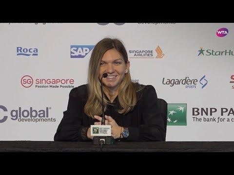 Simona Halep Pre-Tournament Press Conference | 2018 WTA Finals