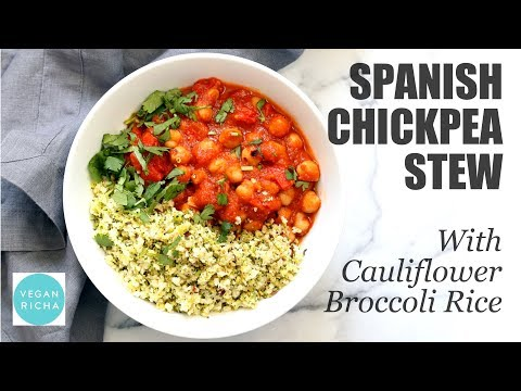 SPANISH CHICKPEA STEW WITH CAULIFLOWER RICE | Vegan Richa Recipes