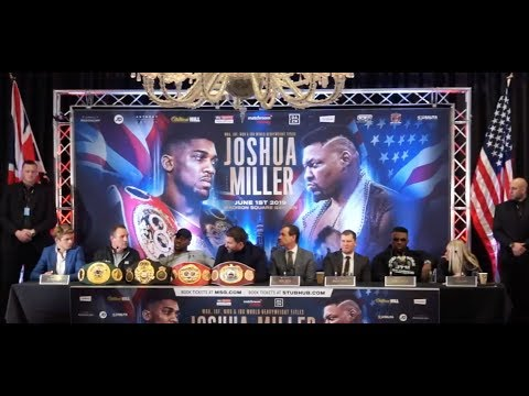 ANTHONY JOSHUA v JARRELL MILLER *FULL & UNCUT* LONDON PRESS CONFERENCE / JOSHUA-MILLER