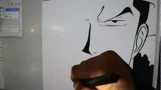 Drawing Rob Lucci On The Wacom Cintiq 21UX