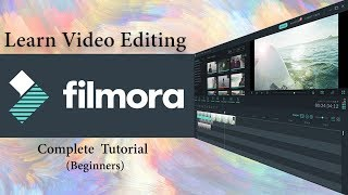 Filmora video editing tutorial for beginners | full course | Hindi thumbnail