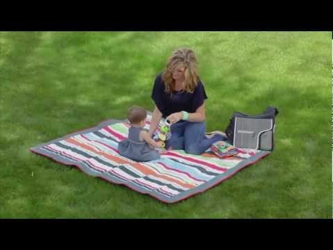 JJ Cole All-Purpose Blanket - Easy to carry, easy to fold.  Perfect everywhere.
