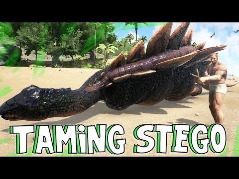 ARK: Survival Evolved - Taming A Stegosaurus! [9]