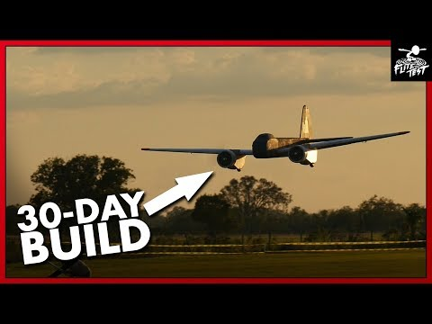 30-Day Build Challenge: 12foot WWII German Bombers | FLITE TEST