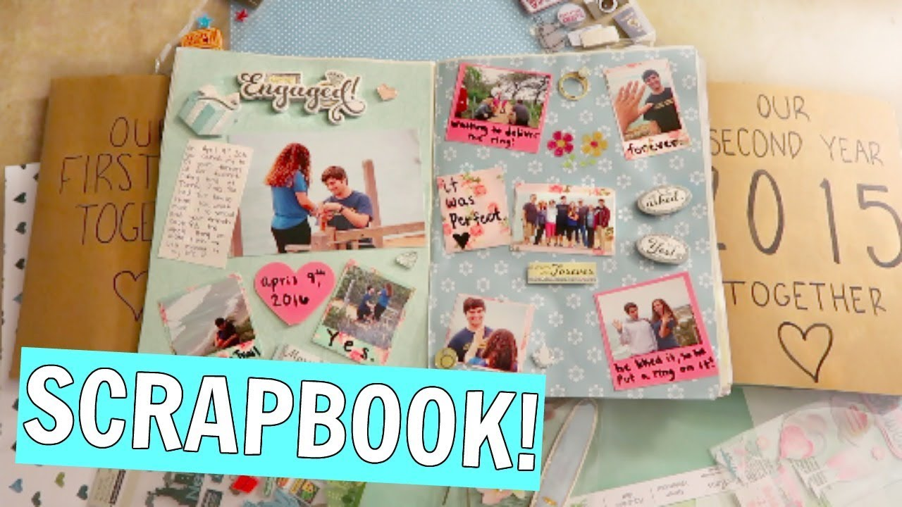 My Diy Anniversary Scrapbooks Scrapbooking Process