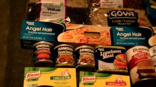 SHTF Food Preps For The Common Man or Financially Challenged - A Little Money Goes A Long Way!