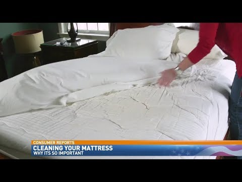 How to clean a mattress -  EASY - no more moisture, odors, dirt, dust mites,
