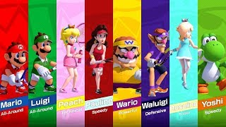 Mario Tennis Aces - All Characters (DLC Included)