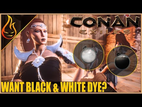 How To Get Black And White Dye Legendary Repair Kits Conan Exiles 2018 Tips