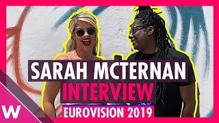 Sarah McTernan (Ireland) interview @ Eurovision 2019 second rehearsal