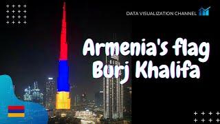 🇦🇲 Հայաստանի դրոշը day Ազգային օրվա ամենաբարձր շենքի ՝ Բուրջ Խալիֆայի վրա. Դուբայ, ԱՄԷ