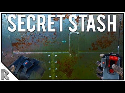 C4 RAID - He Surrendered! - Secret Loot Stash! - Ark Survival Evolved
