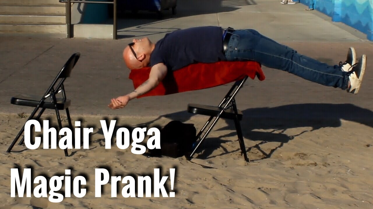 youtube chair yoga round swivel chairs pranking people with magic prank