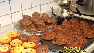 ici dolgulu suffle donuts muffin