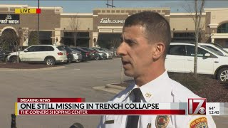 One still missing in trench collapse