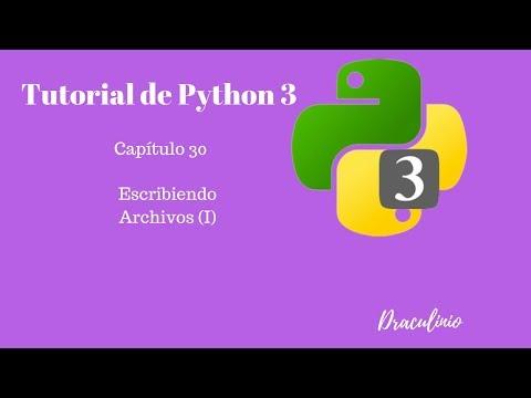 Tutorial Python Capítulo 30: Escribiendo archivos I thumbnail