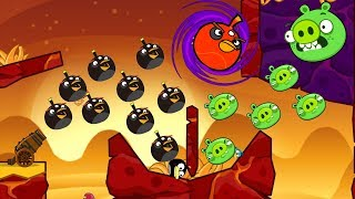 Angry Birds Collection Birds 3 - BLAST ALL PIGGIES AFTER SHOOTING MAXIMUM BOMBER!