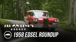 homepage tile video photo for Jay Drives In A 1958 Edsel Roundup With Martha Stewart - Jay Leno's Garage
