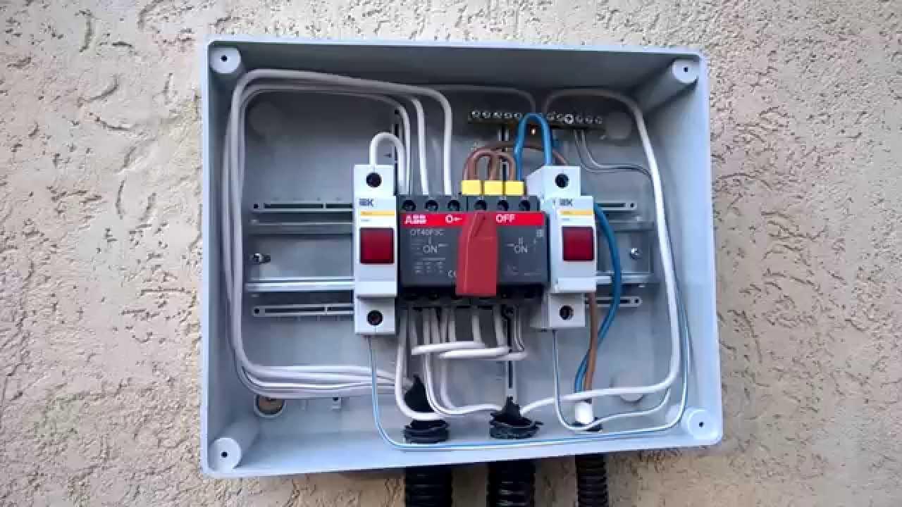 подключение генератора в сеть дома