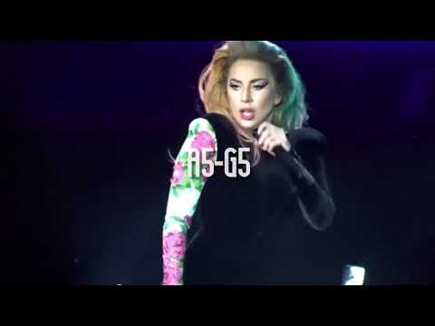 Lady Gaga hits a G5 belt on Applause (Joanne World Tour)
