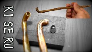 【職人のままごと】満足できなくて、銅と真鍮でキセルを作ることにした。