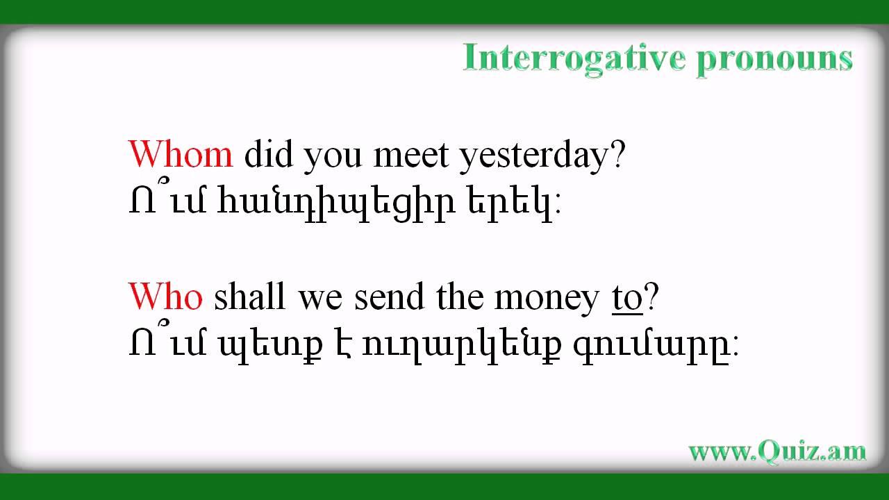 interrogative pronouns in spanish - 1280×720