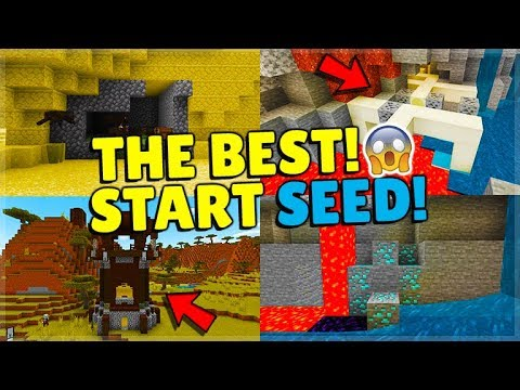 THE BEST NEW START IN MINECRAFT SEED! Exposed Spawners & More! (MCPE, Xbox, Switch, PC)